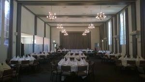 Hall set up for Len Levy kiddush (4)